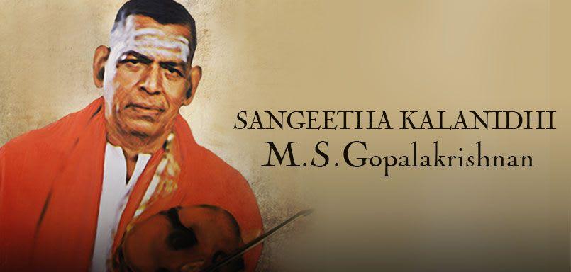 Sangeetha Kalanidhi - M.S.Gopalakrishnan